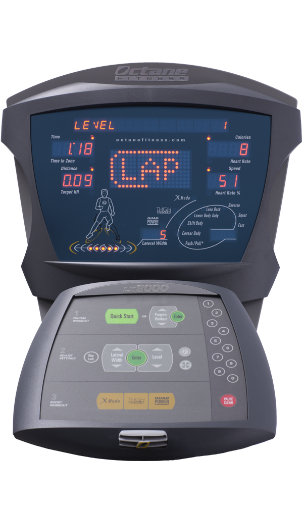 LateralX elliptical machine