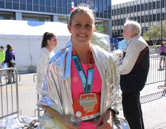 Hayley after the 2014 Kansas City Marathon